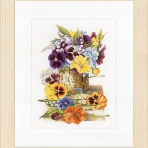 Lanarte Borduurpakket - Pot met viooltjes