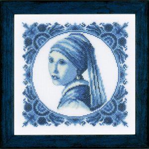 Lanarte Borduurpakket - Meisje met de Parel Johannes Vermeer