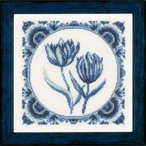 Lanarte Borduurpakket - Delftse Tulpjes
