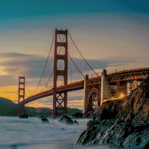 MyHobby borduurpakket - Golden Gate Bridge San Francisco