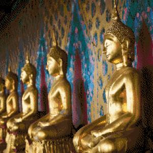 MyHobby borduurpakket - gouden boeddha's