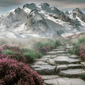 MyHobby borduurpakket - in de bergen