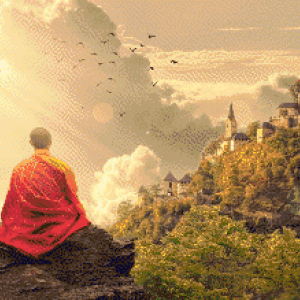 MyHobby borduurpakket - mediteren met panorama