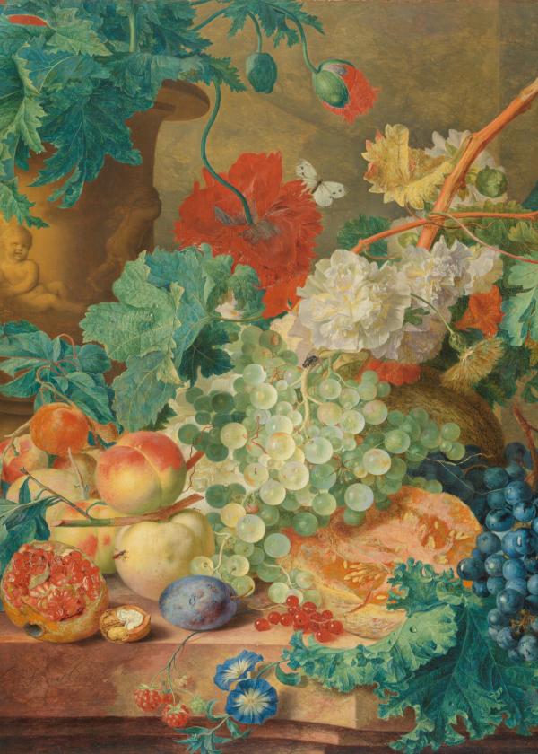 MyHobby borduurpakket - stilleven met bloemen en vruchten (Huysum)