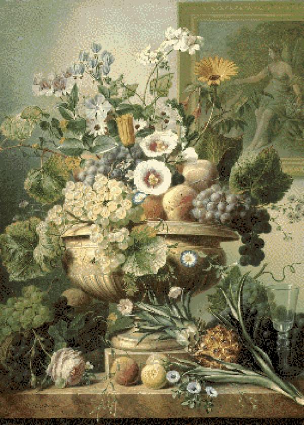 MyHobby borduurpakket - stilleven met bloemen (Eelkema)