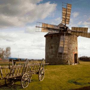 MyHobby borduurpakket - oude molen in weiland
