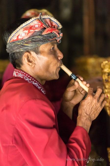 Портрет на индонезийски музикант - остров Бали