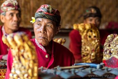 Портрет на музикант на остров Бали