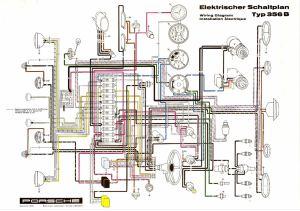 Elektrischer Schaltplan Typ 356B (Showroom Poster