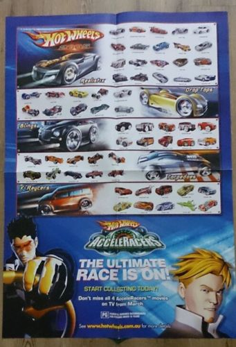 Hot Wheels 2005 AcceleRacers Double Sided Poster Posters And Prints HobbyDB