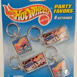 Hot Wheels 1997 Party Favors Set Of 4 Key Rings
