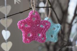 DIY: ster haken/crochet star. Free pattern/gratis patroon. I www.hobbydingen.wordpress.com