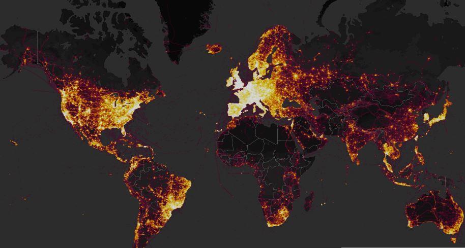 global heatmap van strava