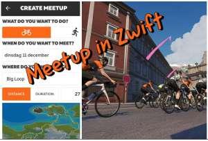 Meetup met vrienden in Zwift