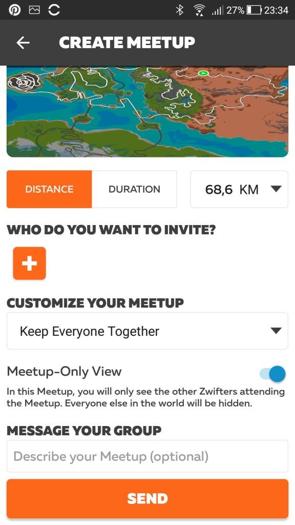 Meetup aanmaken in companion App