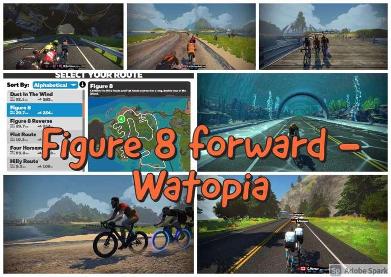 Figure 8 forward in Watopia - Zwift