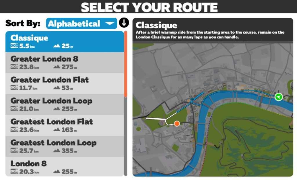 Londen Classique - Zwift