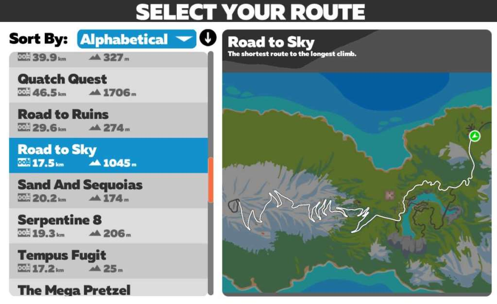 Road to Sky route