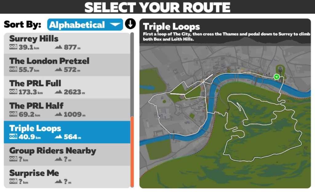 Triple Loops in Londen - Zwift