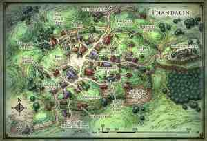 image of a map of Phandalin