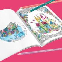 Malstation für Groß und Klein mit Motiven aus den Büchern der bekannten Künstlerin Johanna Basford