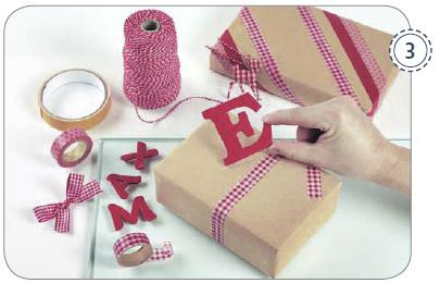 DIY-Buchstaben für Weihnachtsgeschenke