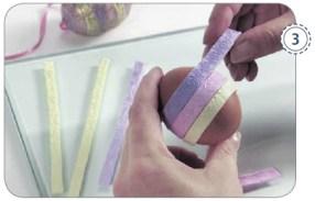 Ostereier mit Pastellfarben