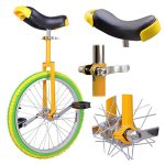 20-in-Colorized-Wheel-Uni-Cycle-Skidproof-Unicycle-w-Stand-Cycling-Yellow-Green-0-0
