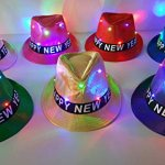 2018-Happy-New-Years-Eve-FLAT-MATTE-SOLID-COLOR-FEDORA-Style-Hats-FLASHING-LED-LIGHT-UP-Party-Hats-Various-Colors-Sold-by-Pinto-Novelty-Co-0