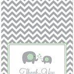 50-Cnt-Chevron-Mint-Elephant-Baby-Shower-Thank-You-Cards-0-0