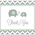 50-Cnt-Chevron-Mint-Elephant-Baby-Shower-Thank-You-Cards-0-1