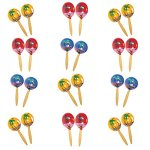 8-Inch-Genuine-Wooden-Hand-Painted-Party-Fiesta-Maracas-12-Pairs-24-Pieces-Per-Pack-0-0