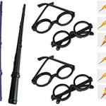 96-pc-set-12-Wizard-Wands-and-12-Wizard-Glasses-72-Ligtning-Bolt-tattoos-Harry-Potter-party-set-0