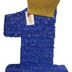 APINATA4U-Royal-Blue-Gold-Crown-Number-One-Pinata-0