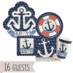 Ahoy-Nautical-Party-Tableware-Plates-Cups-Napkins-Bundle-for-16-0