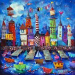 Artifact-Puzzles-Angie-Rees-Happy-Harbor-Wooden-Jigsaw-Puzzle-0