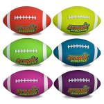 Atomic-Athletics-6-Pack-of-Neon-Rubber-Playground-Footballs-Regulation-Size-9-115-Balls-with-Air-Pump-and-Mesh-Storage-Bag-by-K-Roo-Sports-0-0