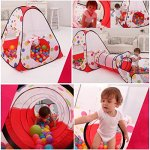 Awakingdemi-Pool-Tube-Teepee-3pc-Pop-up-Play-Tent-ChildrenTunnel-Kids-Play-House-0-2