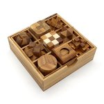 BSIRI-9-Unique-Puzzles-a-Perfect-Gift-Set-Handcrafted-Mini-Brain-Teasers-Interlocking-Wooden-Puzzle-Sets-0-0