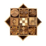 BSIRI-9-Unique-Puzzles-a-Perfect-Gift-Set-Handcrafted-Mini-Brain-Teasers-Interlocking-Wooden-Puzzle-Sets-0-2
