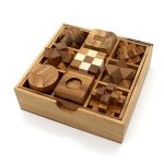 BSIRI-9-Unique-Puzzles-a-Perfect-Gift-Set-Handcrafted-Mini-Brain-Teasers-Interlocking-Wooden-Puzzle-Sets-0