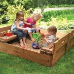 Badger-Basket-Covered-Convertible-Cedar-Sandbox-with-Bench-Seats-Natural-0-2