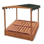 Badger-Basket-Covered-Convertible-Cedar-Sandbox-with-Canopy-and-Bench-Seats-0-0