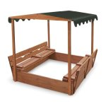 Badger-Basket-Covered-Convertible-Cedar-Sandbox-with-Canopy-and-Bench-Seats-0