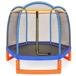Best-Choice-Products-7FT-Kids-Outdoor-Mini-Trampoline-w-Enclosure-Safety-Net-Pad-0