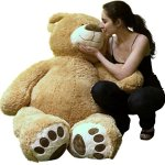 Big-Plush-Personalized-Giant-5-Foot-Teddy-Bear-Premium-Soft-Customized-with-Your-Message-Unique-Gift-for-Valentines-Day-or-Any-Occasion-Hand-stuffed-in-the-USA-Not-Vacuum-Packed-0-0