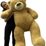 Big-Plush-Personalized-Giant-5-Foot-Teddy-Bear-Premium-Soft-Customized-with-Your-Message-Unique-Gift-for-Valentines-Day-or-Any-Occasion-Hand-stuffed-in-the-USA-Not-Vacuum-Packed-0-1