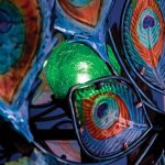 Bits-and-Pieces-Solar-Peacock-Wind-Spinner-Decorative-Solar-Powered-Kinetic-Wind-Mill-Glass-Ball-Emits-Color-Changing-Light-Unique-Outdoor-Lawn-and-Garden-Dcor-Lawn-Ornament-0-2
