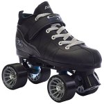 Black-Pacer-Mach-5-GTX500-Quad-Speed-Roller-Skates-w-2-Pair-of-Laces-Gray-Black-0