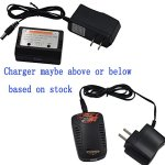 Blomiky-New-2-Pack-74V-1800mAh-25c-Li-poly-Battery-and-Balance-Charger-for-MJX-Bugs-2-B2C-B2W-F18-New-version-GPS-Drone-B2W-Battery-Black-2-0-1